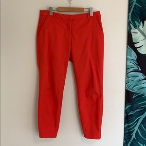 RW & CO. Slim Red Ankle Trouser Pant Sz10